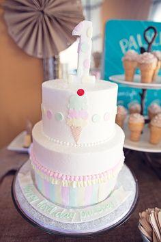 Cake at a Ice Cream Party #icecream #partycake