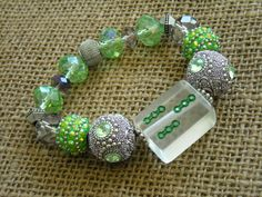 Clear Tile Mahjong Bracelet - Jesse James Beaded Bracelet  - Mah jong Jewelry - Oriental Jewelry by Earmarksdesigns on Etsy