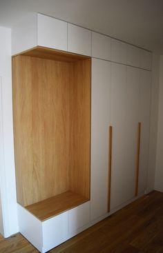 Entrance wardrobe with hidden compartment by willion.hu #minimal #minimalism #entrancewardrobe