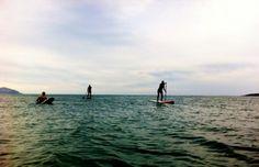 Paddle boarding in Brandon Bay