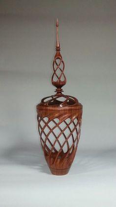 spiral goblet, Bill Wyko, wood artist