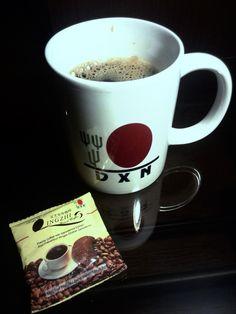 DXN Čierna káva s hrnčekom