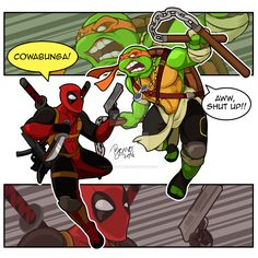 Deadpool-vs-Mikey by bonographic