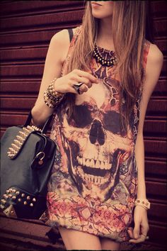 skull dress and accessories