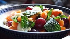 Fruit salad with Moroccan dressing recipe