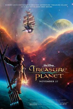 """Directed by Ron Clements, John Musker.  With Joseph Gordon-Levitt, Emma Thompson, Martin Short, Roscoe Lee Browne. A Disney animated version of """"Treasure Island"""". The only difference is that the film is set in outer space with alien worlds and other galactic wonders."""
