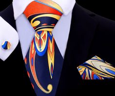 The Hampton Tie Set brings classic colors and mixes them with a fresh abstract pattern! Wear this tie when you are wanting to ramp up your style! Sharp Dressed Man, Well Dressed Men, Predator, Mens Double Breasted Blazer, Twilight, Grey Suit Men, Mens Suits, Nyc, Mens Attire