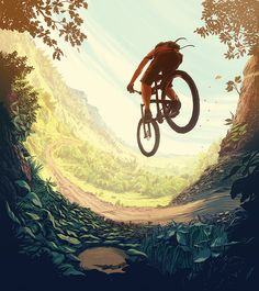 Singletrack Love (2014) on Illustration Served