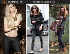 Bom dia! Amamos ♥ a tendência da calça black. Super fácil de combinar é uma ótima opção para fugir do azul convencional do jeans!