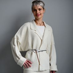 The Unlined Raw-edged Coat/cardigan  Oh how much do I love this cardigan version... that might be awesome in italian casentino wool...
