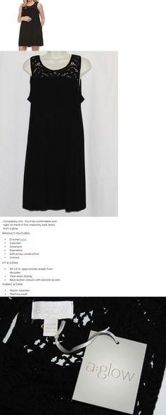 6a5bce4de1 Maternity 172378  Xs Maternity Dress Black Tank Top Nwt New Crochet Style A Glow  X Small 0 2 Kohls -  BUY IT NOW ONLY   14.69 on  eBay  maternity  dress ...