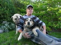 Johnny with Lucky and Bella