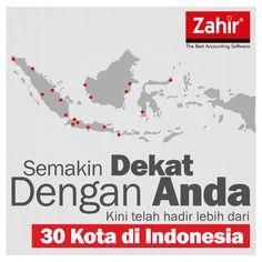 Zahir Accounting kini telah hadir di 30 kota di Indonesia.