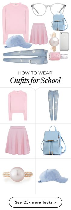 """For School"" by buruberimiruku on Polyvore featuring Miu Miu, Ace, Native Union, Belpearl and Essie"