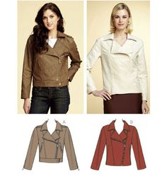 Kwik Sew 3764 for Moto Jacket Kwik Sew Patterns, Clothing Patterns, Diy Clothing, Moto Jacket, Motorcycle Jacket, Bomber Jackets, Leather Jackets, Jacket Pattern, Sewing Notions