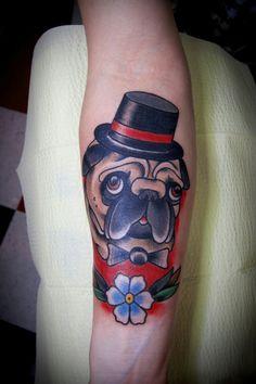 Fancy little pug dog reminds me of my arrebella