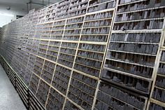 Wai Che Printing Company, Hong Kong, Storage of movable type characters