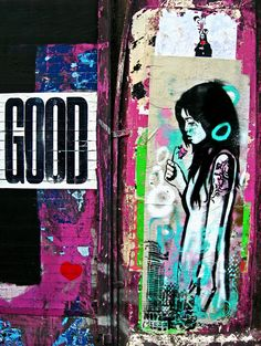 Graffiti London - street art - photography - urban art - Good - pink - urban photography