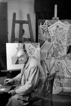 Henri Cartier-Bresson - Greek painter Nikos GHIKA. Athens. GREECE. 1953.: