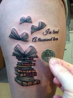 Belas tatuagens inspiradas em livros