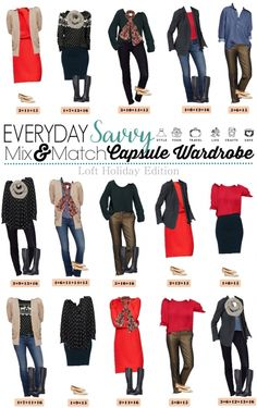 Want to look pulled together this holiday season no matter the occasion? Then check out this Loft holiday capsule wardrobe that includes casual and more dressed up outfits. Most of the pant options come in regular, petite and tall lengths. I love that! The fun red turtleneck sweaterdress and reindeer fair isle sweater are so festive.