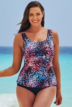 6ed7e6271b #Valentine's Day Sale! #EnvyWe #SwimsuitsForAll - #s4a Pink Multi Tankini  Set