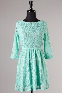 mint lace dress must have!  #swoonboutique
