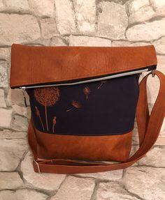 Schultertaschen - FoldOver Tasche, Pusteblume - ein Designerstück von Kleine-Wollbude bei DaWanda