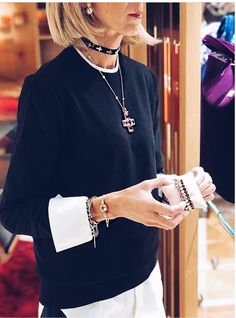 Just in time for Xmas, our new Chocker Collection. Fashion Over 50, Work Fashion, Daily Fashion, Everyday Fashion, Fashion Looks, Fashion Outfits, Womens Fashion, Estilo Casual Chic, Classy Casual