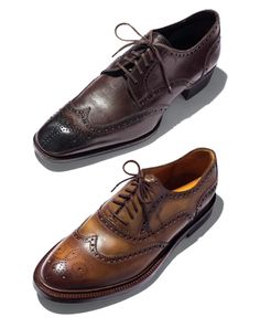 There are those slim, contoured kinds that exude elegance and go great with a luxurious custom suit. And then there are the heftier lace-ups with chunkier soles. They're what we show a ton of in the magazine these days. They go great with skinny jeans or trim-cut suits.