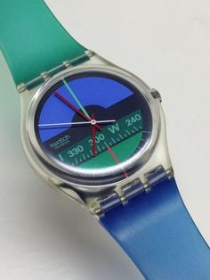 Vintage Swatch Watch Nautilus GK102V2 Thin Hands 1986 Rare Variant #Swatch #Casual