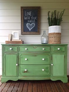 Green Painted Furniture Makeovers