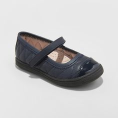 34c353164fb2 Add some elevated style to your girl s outfit while keeping her as comfy as  can be with these Chelsey Adjustable Easy-Close Mary Janes from Cat and Jack .