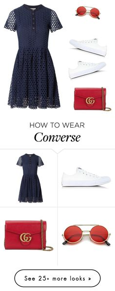 """""""sporty chic"""" by princesaurbana on Polyvore featuring Sea, New York, Converse, Gucci and ZeroUV"""
