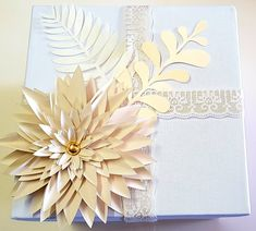 Decorated gift boxes with a paper dahlia and leaves this template soon to be available on our Etsy Shop Paper Dahlia, Paper Flowers, Flower Template, Gift Boxes, Etsy Seller, Greeting Cards, Leaves, Etsy Shop, Templates