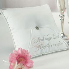 And they lived Happily Ever After ring pillow Ring Bearer Pillows, Ring Pillows, Fairytale Wedding Invitations, Cinderella Theme, Ring Pillow Wedding, Wedding Ring, Wedding Dress, Dream Wedding, Wedding Day