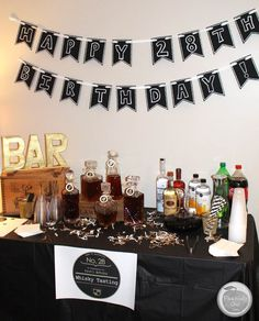 Planning A Guy's Birthday Party: Whiskey Tasting - manly theme party ideas