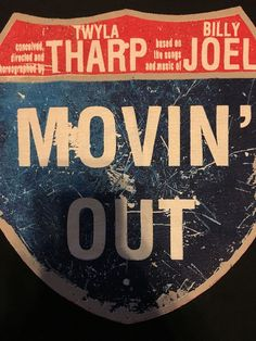 Broadway Play Musical Movin' Out Black T-Shirt Sz Large Twyla Tharp Billy Joel  #Broadway #GraphicTee