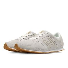 555 New Balance Women's Casuals Shoes - Off White/Gold (WL555WG)