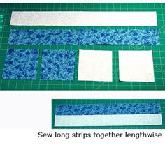 Make Double Four Patch Blocks that Are Just a Bit Different from the Norm: Begin Sewing the Double Four Patch Quilt Blocks