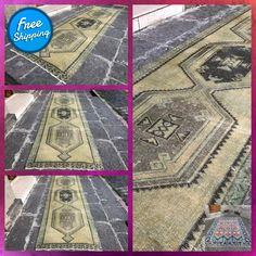 Turkish rug | Vintage rug | Runner rug | Turkish runner | Kilim rug | Hallway rug || 3'7'' x 12'6'' = 116 x 389 cm #TurkishRug #OushakRugs #CorridorRug #TurkishRunner #KilimRug #RunnerRug #FloorRug #BohoDecor #VintageRug #AreaRugs Rugs On Carpet, Carpets, Aztec Rug, Types Of Rugs, Hallway Rug, Kilims, Floor Rugs, Rug Runner, Runes