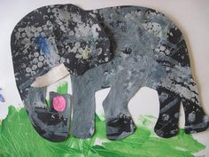 Art in the style of Eric Carle. Bubble wrap, mixing colours textured paper.