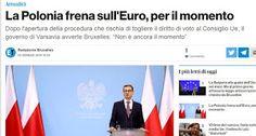 Sine.ClaV.is: La Polonia NON vuole entrare nell'Euro (giustament...