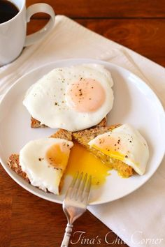 Poach fried eggs - we make these all the time