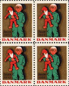 デンマーク・クリスマス・シール1931-1940 Christmas Seal of Denmark