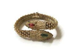 Ciner vintage Jewelled Bracciale serpente bicefalo