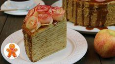 "Торт ""Медовое яблоко"" очень нежный и домашний ✧ Honey Apple Cake (Englis... Cake Youtube, Dessert Bread, Apple Cake, Vanilla Cake, Cheesecake, Cooking Recipes, Desserts, Caftans, Pastries"
