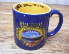 Coffee Mug Walt Disney Dream Cruise Line Inaugural Voyages Dream It Do It Disney Coffee Mugs, Disney Mugs, Disney Gift, Walt Disney, Dream It Do It, Disney Dream Cruise, Fun Cup, Personalized Mugs, I Love Coffee