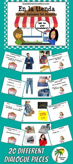 Such a fun way to practice Spanish shopping vocabulary using comprehensible input!