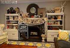 Halloween Decor 2012 + DIY Chalkboard Type Art How To